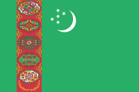 Flag of Turkménistan