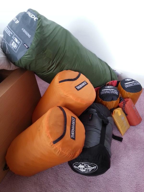 Le materiel de camping